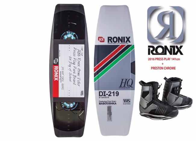 "2016 RONIX PRESS PLAY ATR ""S"" W/PRESTON CABLE PACKAGE"